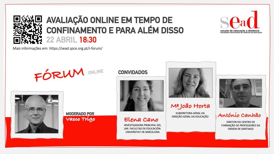 Brochura I Fórum SEaD Online - Avaliação Online... - 22.04.2021, 18h30m PT (TMG+1)